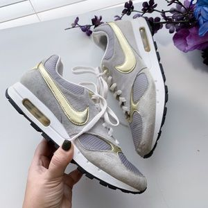 Nike Grey and Gold Air Max